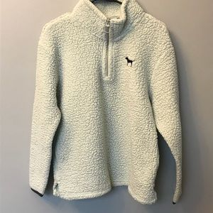 VS PINK Sherpa Quarter Zip